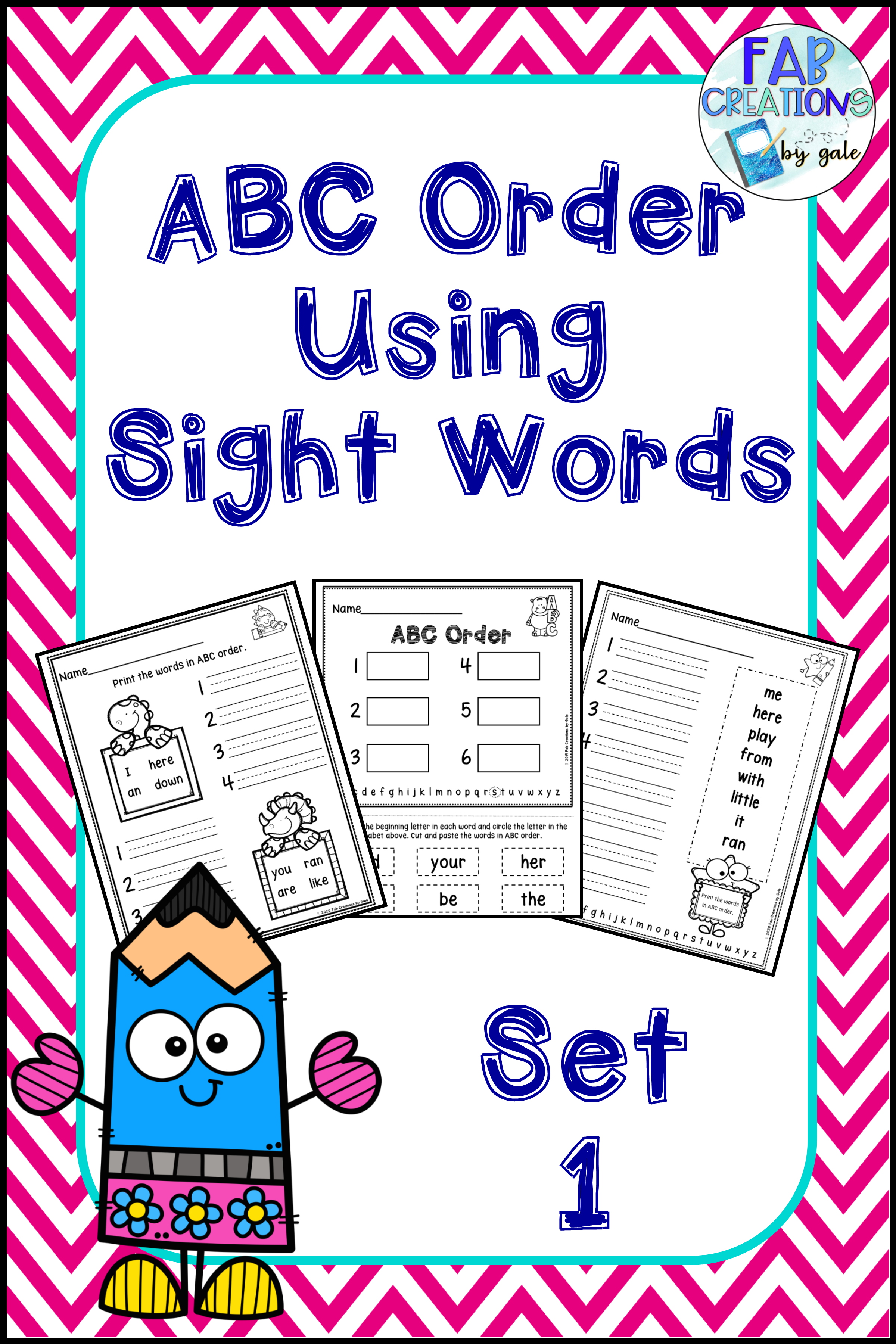 Abc Order Using Sight Words In
