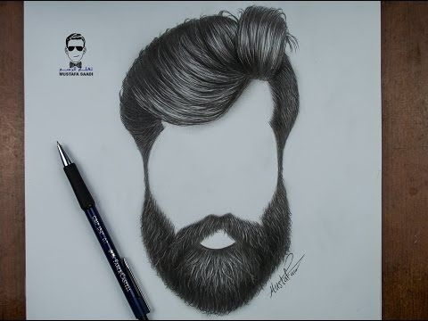 كيفية رسم اللحية والشارب للرجل بالرصاص How To Draw A Beards Youtube How To Draw Hair Beard Drawing Hair Illustration