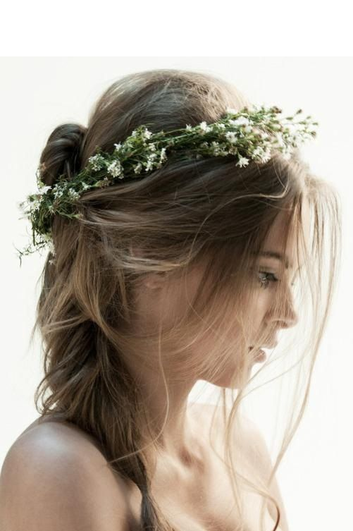 Little White Flowers all up in her hair...
