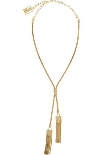 Gold-tone crystal necklace #jewelry #women #covetme