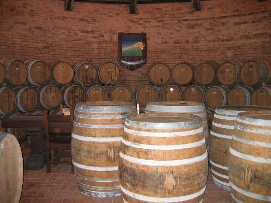 Montepulciano, ageing of wine in a grotto excavated in tufus, at #Tenuta #Valdipiatta www.valdipiatta.it