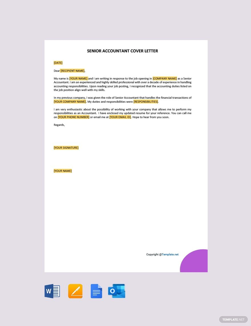 Free staff accountant cover letter template in 2020