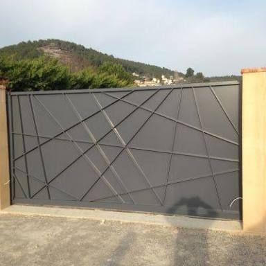 Resultado de imagen para portail coulissant contemporain en fer ...
