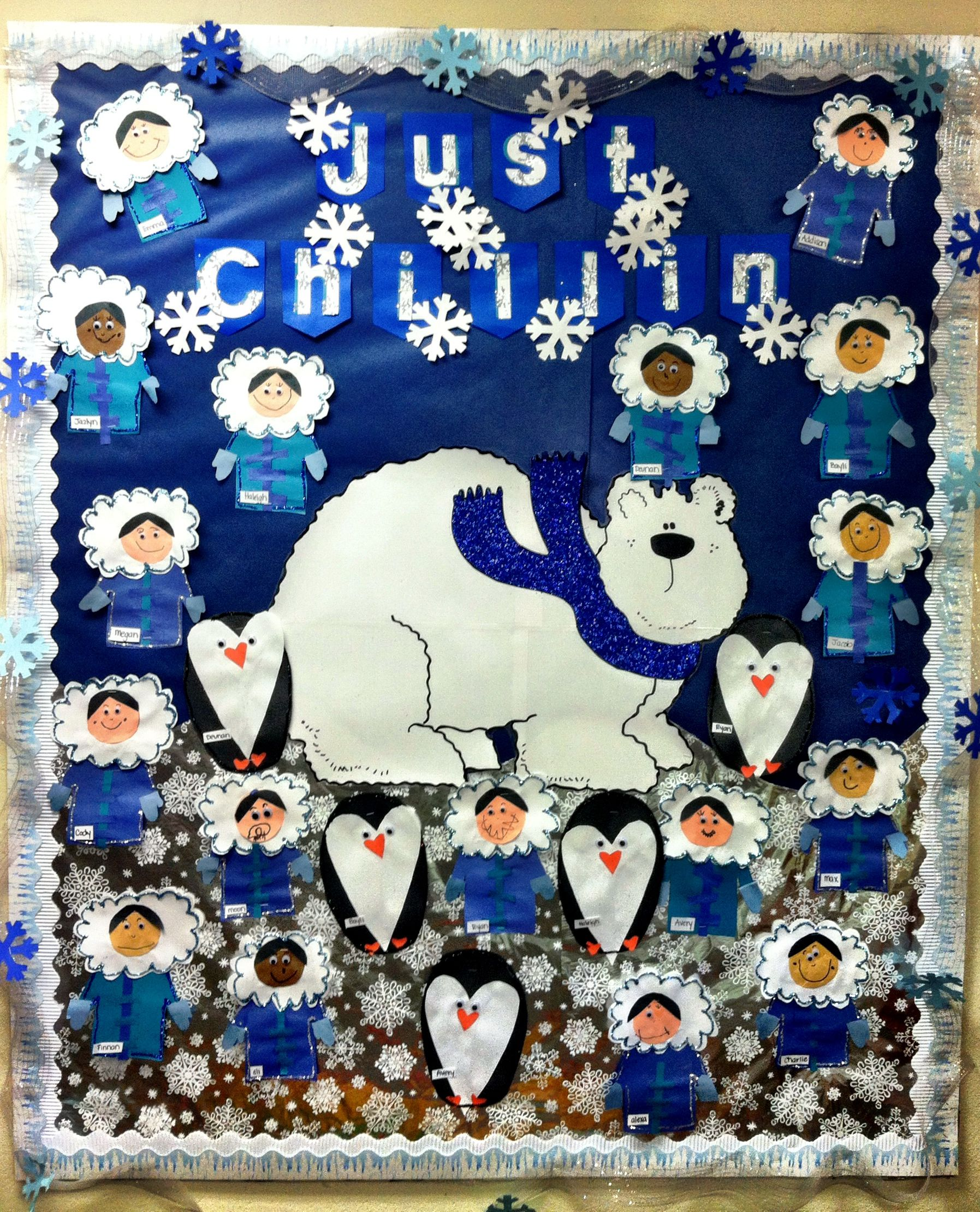 Winter Bulletin Board Eskimoart Penguinart Polarbear