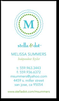 Doable dots business cards stella dot paradise blue doable dots business cards stella dot paradise blue front colourmoves