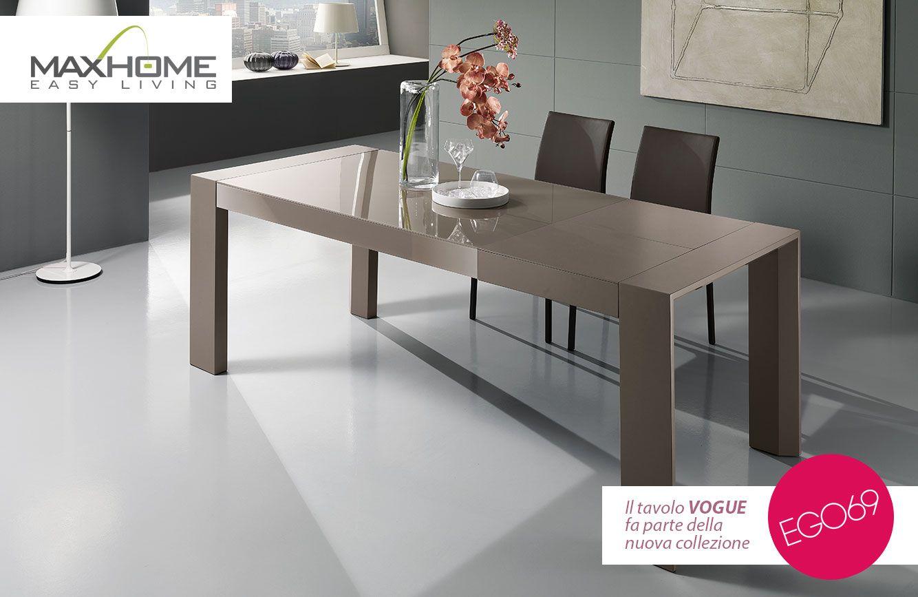 Tavolo Grigio ~ Tavolo rettangolare allungabile dalla linea moderna adatto ad