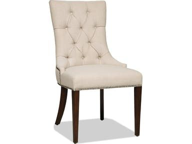 Add A Touch Of Class To Your Dining Room With The Lindy Linen Dining Chair.
