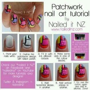 Patchwork Nails Nails Nails Pinterest Patchwork Art