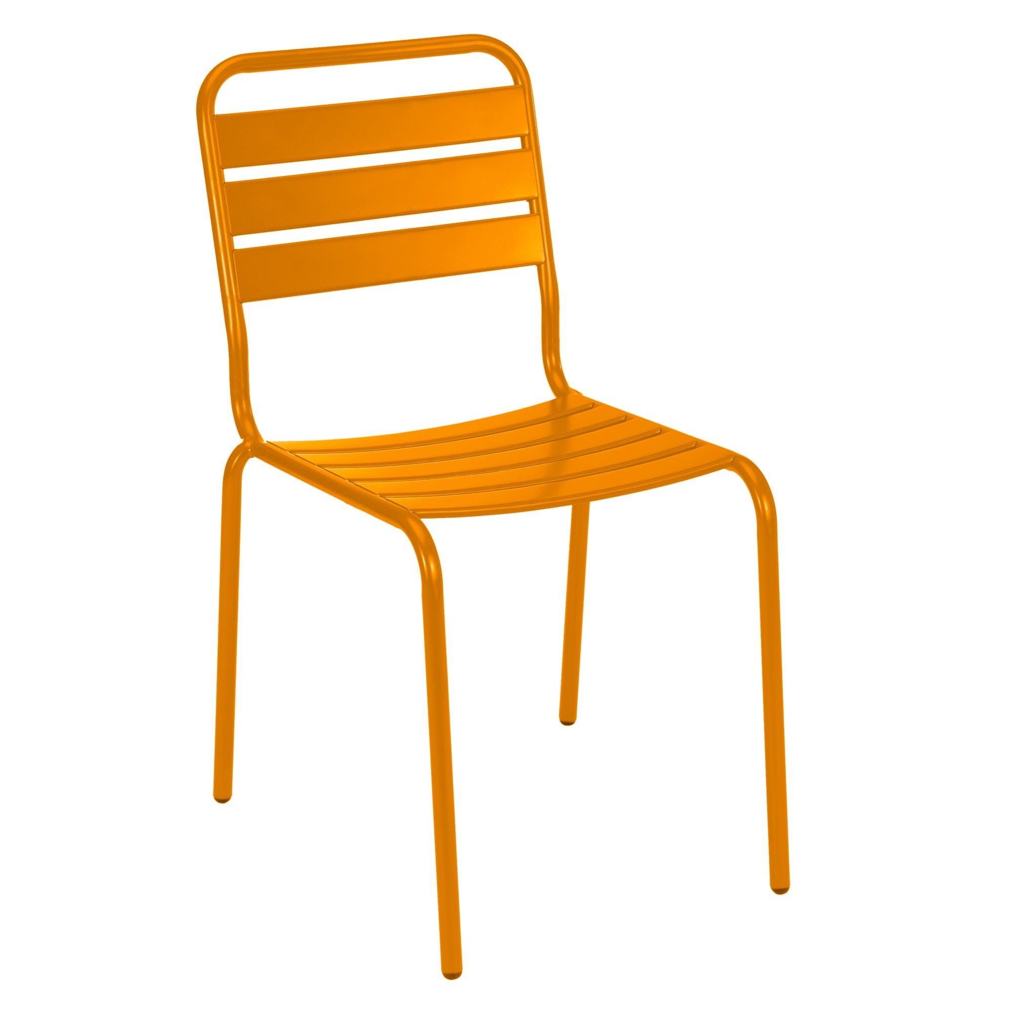 House by John Lewis Jive Outdoor Dining Chair, Orange ...