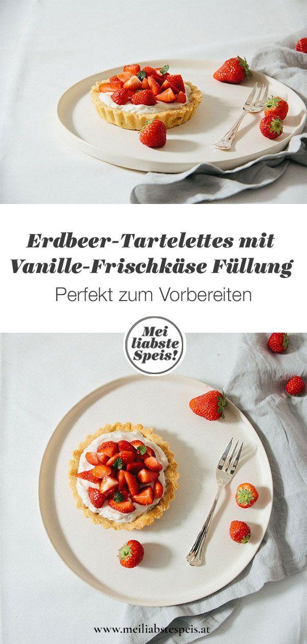 Erdbeer-Tartelettes mit Vanille-Frischkäse oder die Baukasten-Sache