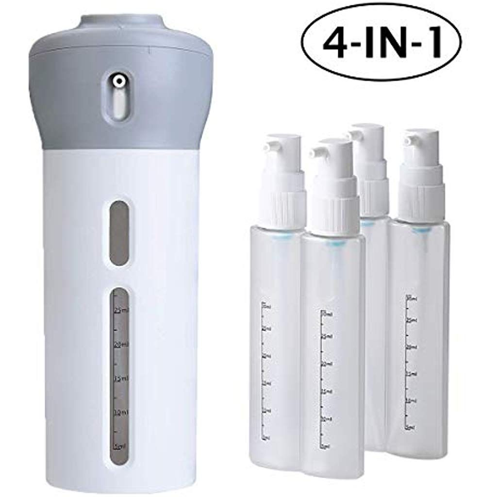 4 In 1 Travel Dispenser Bottle Set Leakproof Refillable Travel