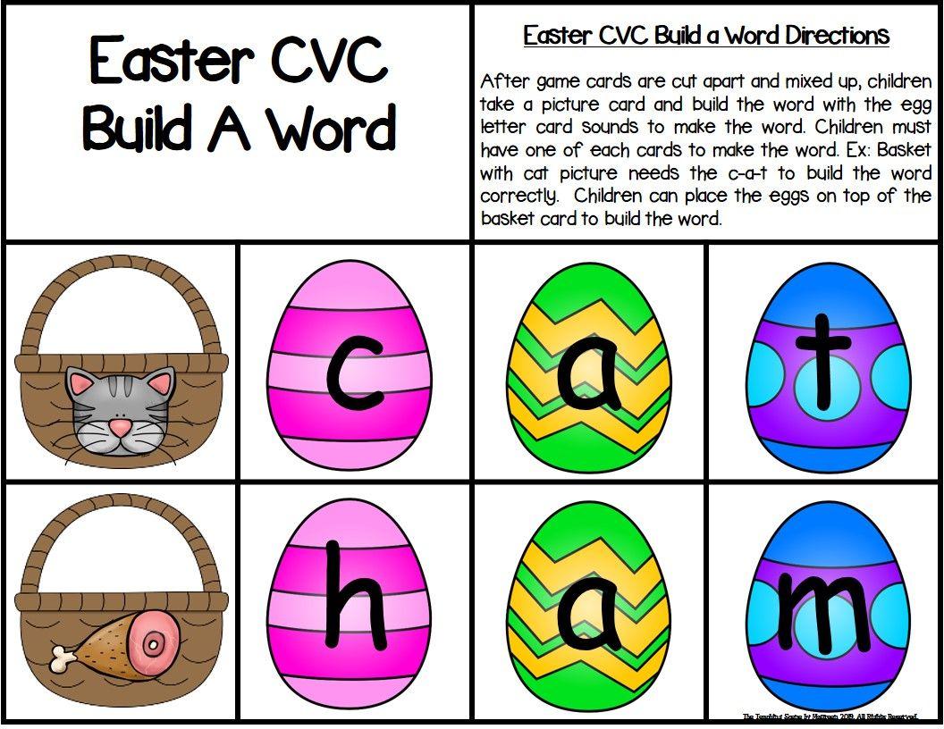 Easter Build A Cvc Word