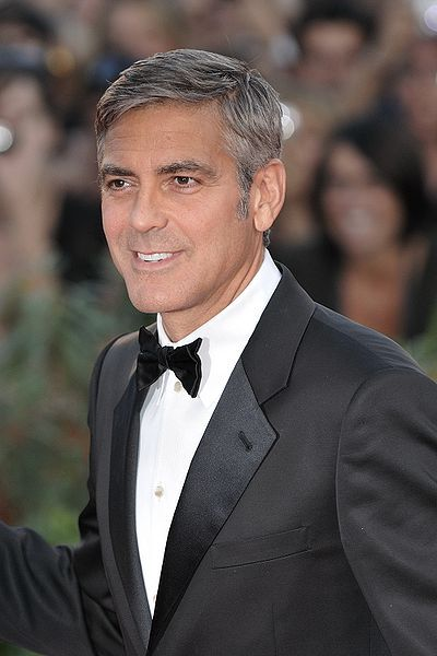 George Clooney-he is so utterly distinguished looking with his old world good looks!!!