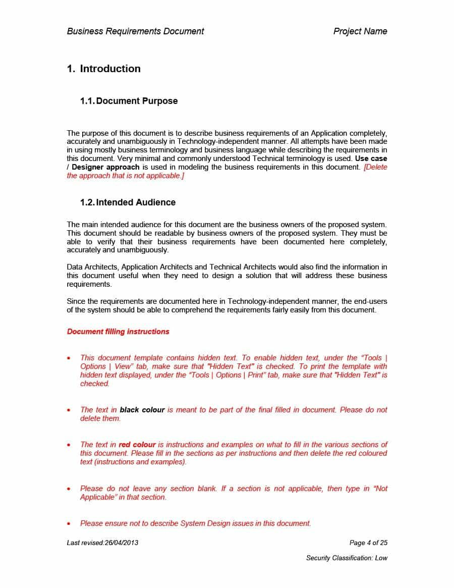 The charming 40+ Simple Business Requirements Document