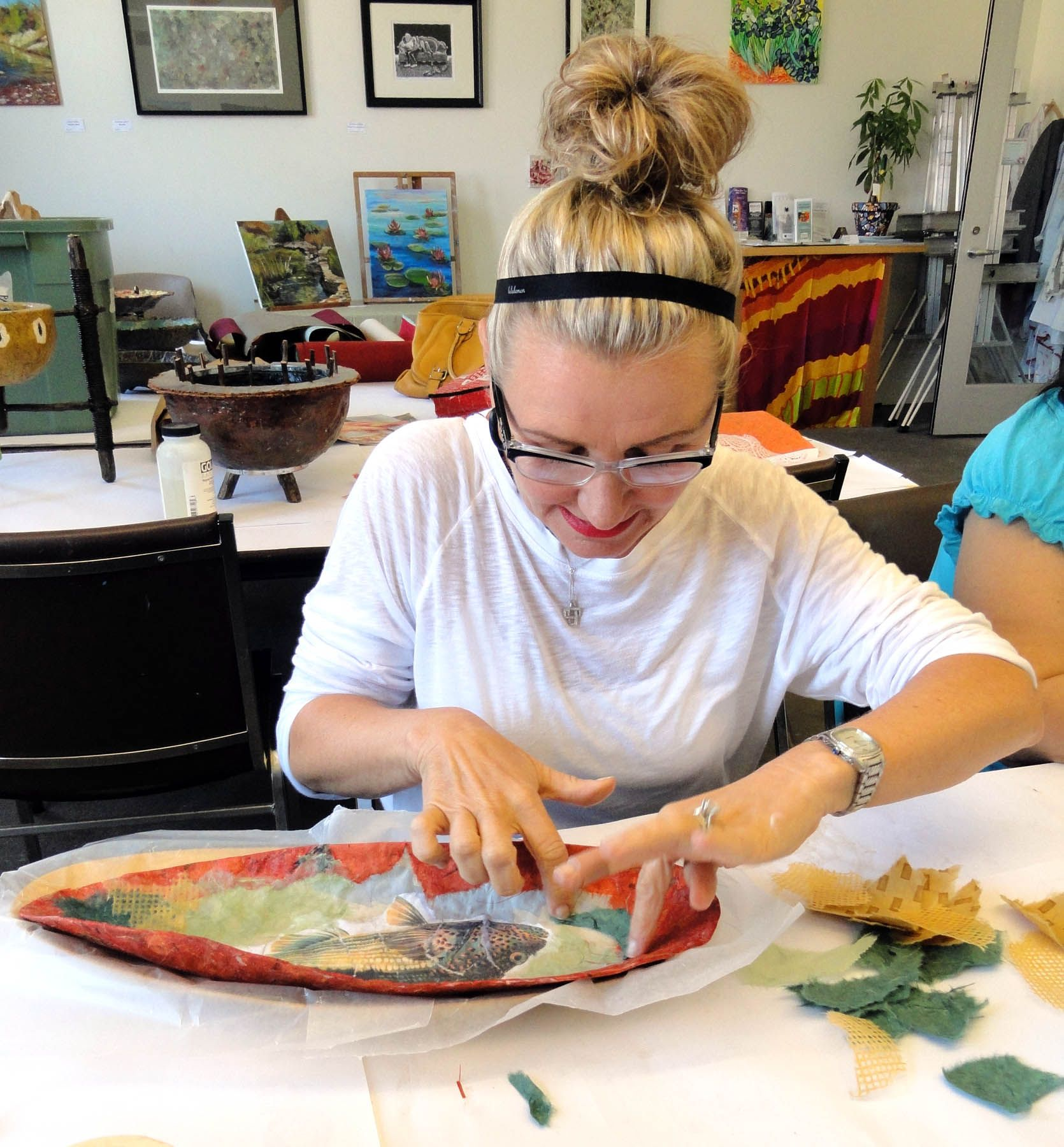 Student Paper Mache Bowl Class At Bravo School Of Art Liberty