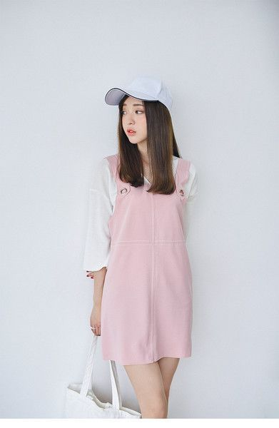 288729e542a nice Tendance salopette 2017 - Korean Fashion - Pink strap dress ...