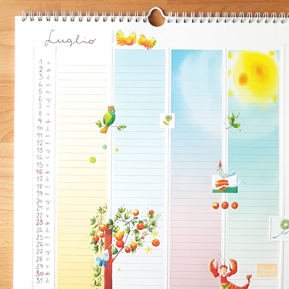 Goccioline Calendario.Il Mese Di Luglio Sul Calendario Famiglia Goccioline 2017
