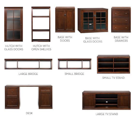 Logan Wall Suite With Bookcases Amp Cabinet Doors Modular