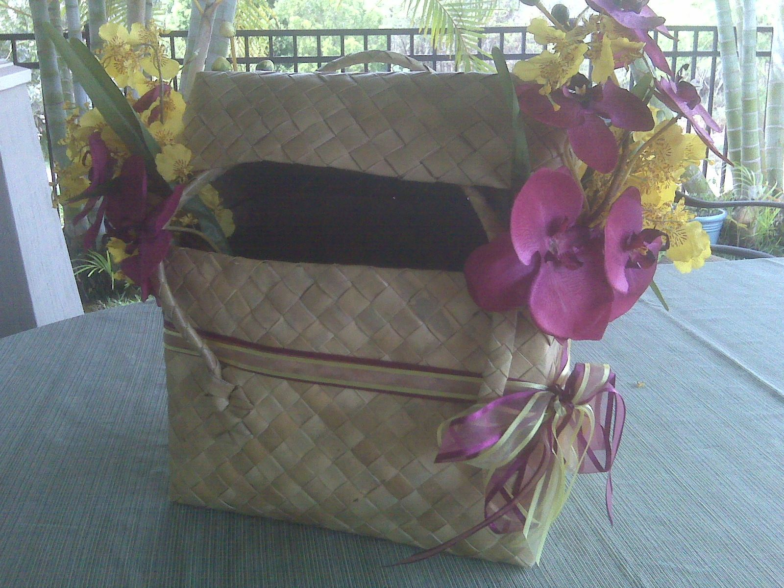 Hawaiian Wedding Gift Ideas: This Is A Card Box Idea For A Hawaiian Wedding. The Basket
