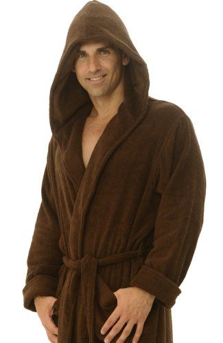 efd8620074 Men`s Terry Cotton Full Length Hooded Bathrobe Robe - Listing price   99.99  Now   64.99