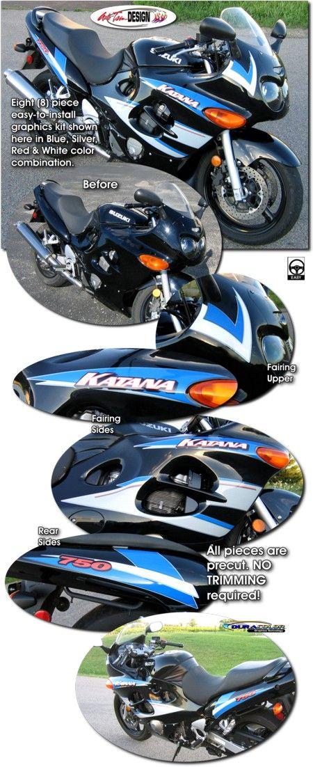 Motorcycle specific graphic kits for Suzuki Katana GSX600F & GSX750F