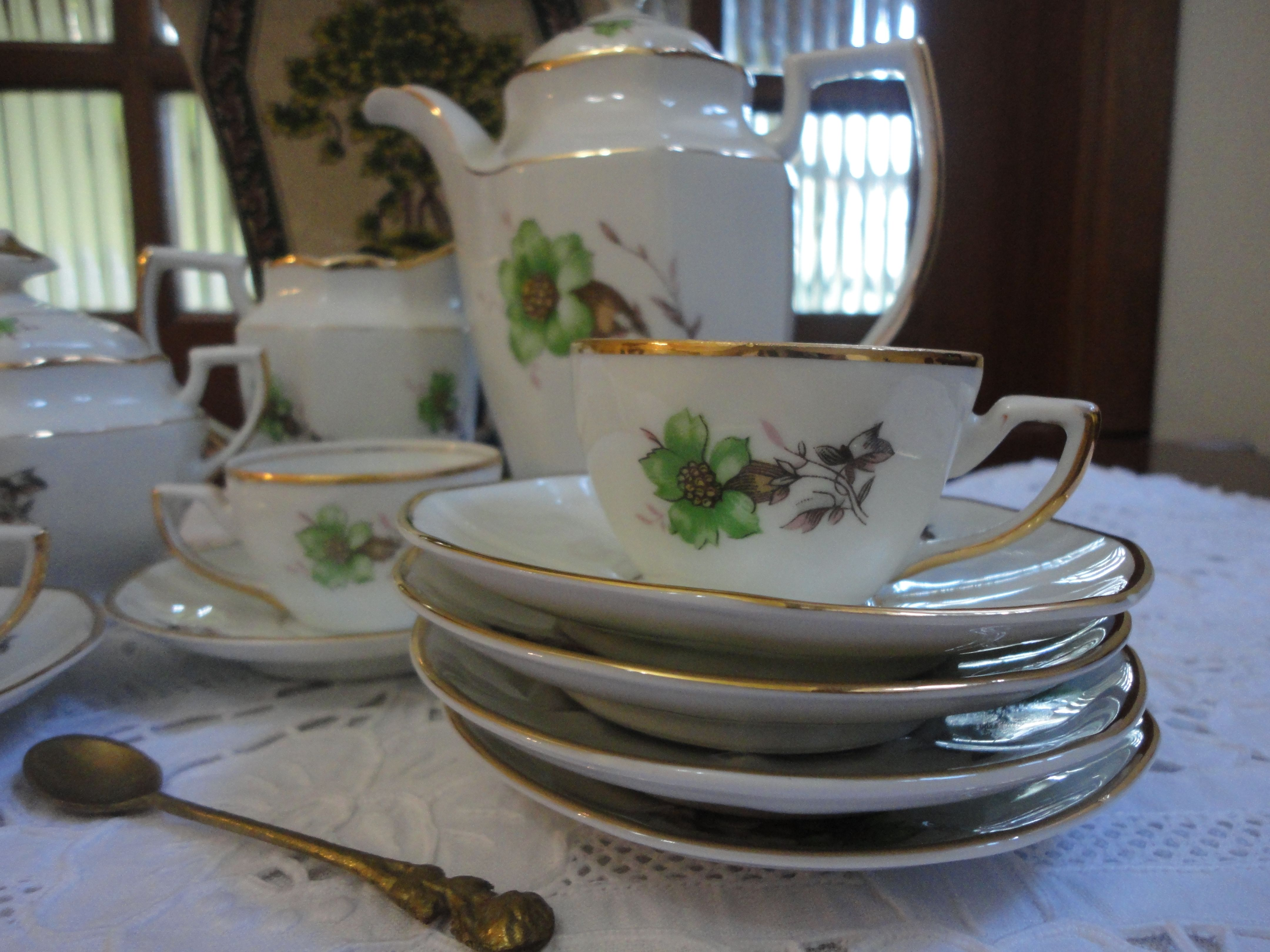 Porcelana Schmidt - Jogo de café - foi presente de casamento de minha mãe - 1959
