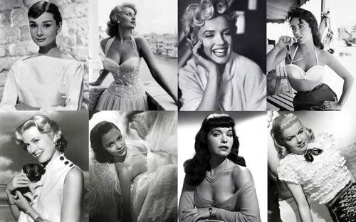 Audrey Hepburn, Sophia Loren, Marilyn Monroe, Elizabeth ...