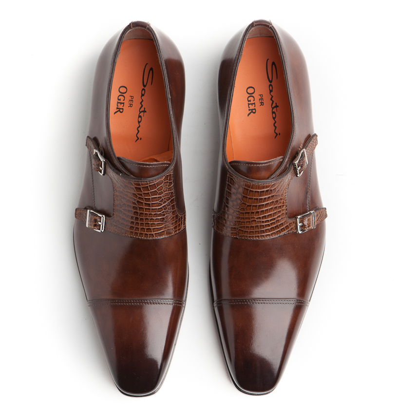 Chaussures En Cuir Santoni k7vOVL