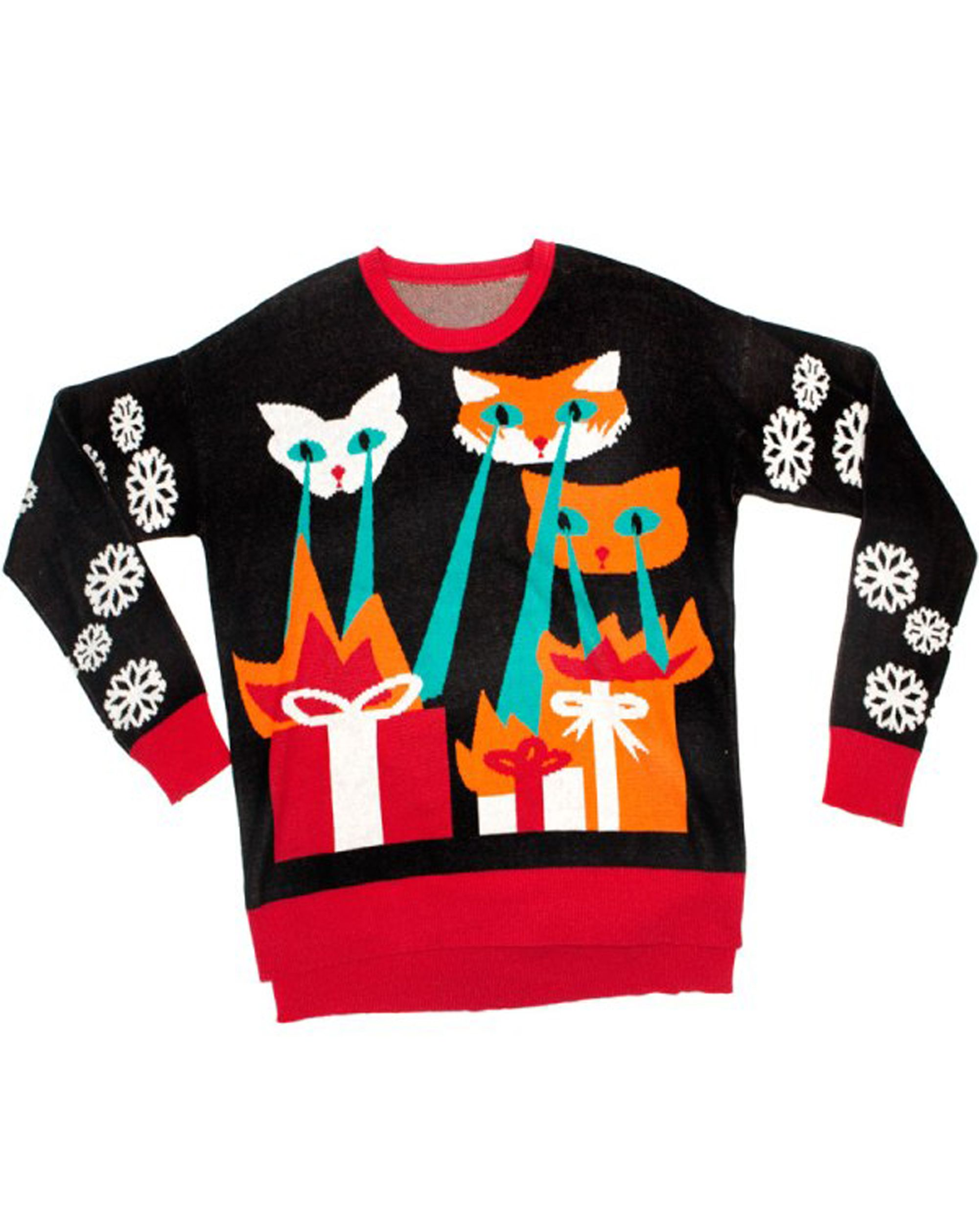 1459785d647bd Laser Cat-Zillas Unisex Christmas Sweater | My Inner Fashionista ...