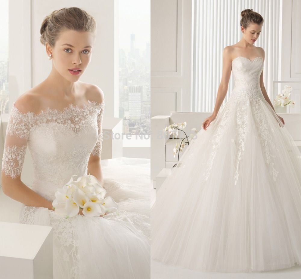 Find More Wedding Dresses Information About CY4270 Off The Shoulder White Lace Ball Gown Dress