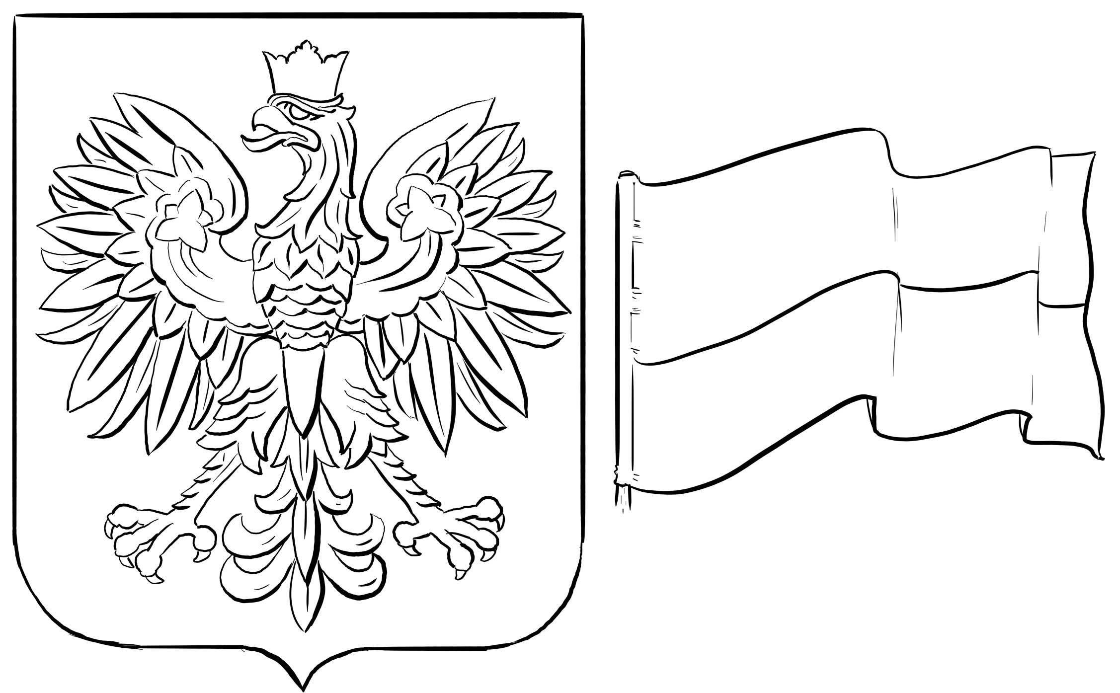 Znalezione Obrazy Dla Zapytania Symbole Narodowe Kolorowanki