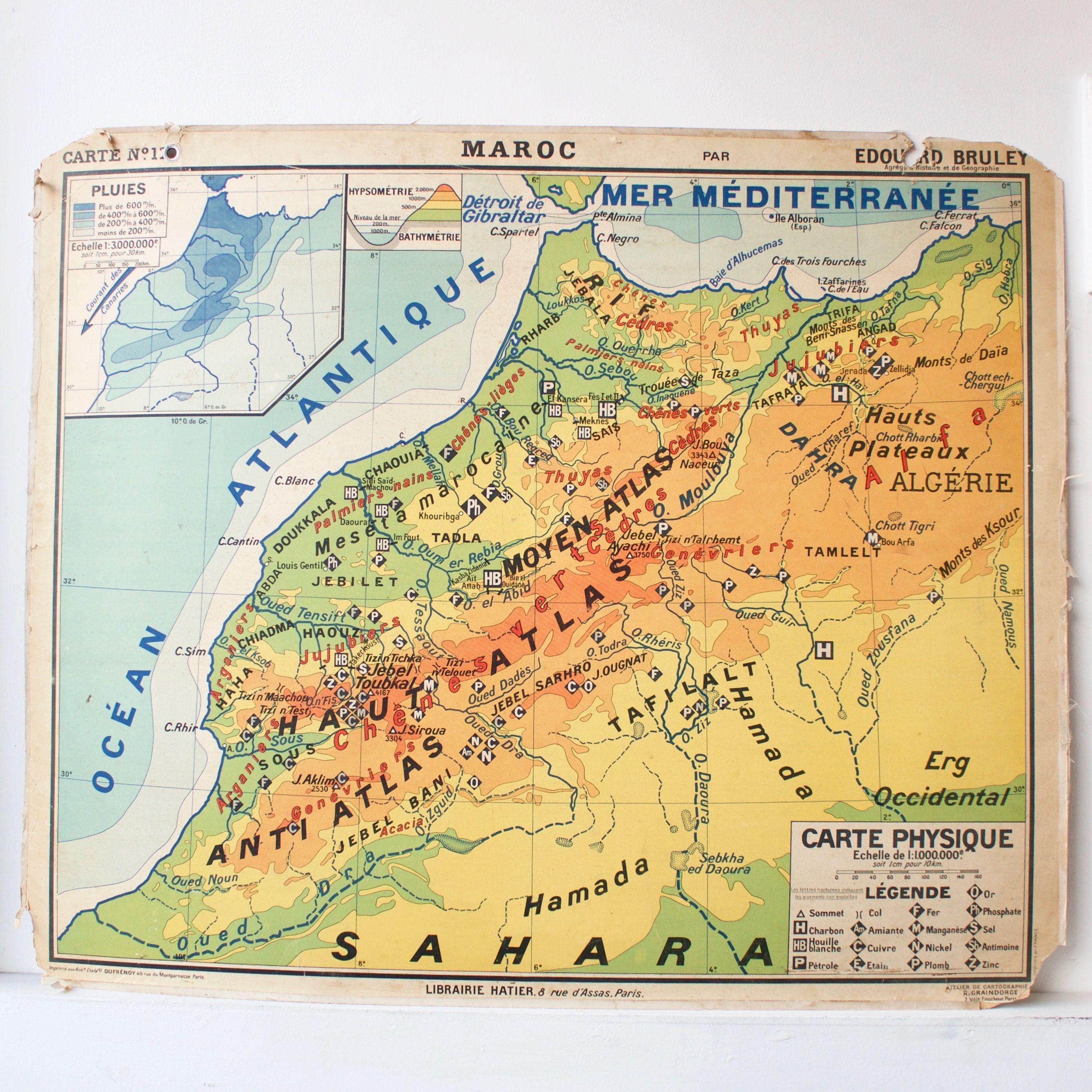 85 carte scolaire ancienne 17 maroc old school map morocco cartes anciennes pinterest. Black Bedroom Furniture Sets. Home Design Ideas