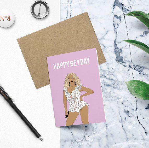 Beyonce Happy Beyday Birthday Card Funny Birthday Card Beyonce