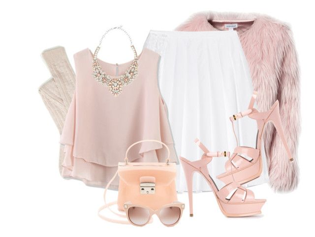 """""""SCREAM Queens"""" by samhoran95 ❤ liked on Polyvore featuring Estradeur, N°21, Chicwish, Yves Saint Laurent, Furla, Valentino and ScreamQueens"""