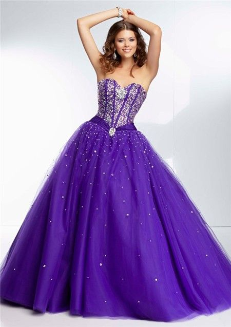 Stunning Purple and Lavender Mermaid Ball Gowns | Ball Gown ...