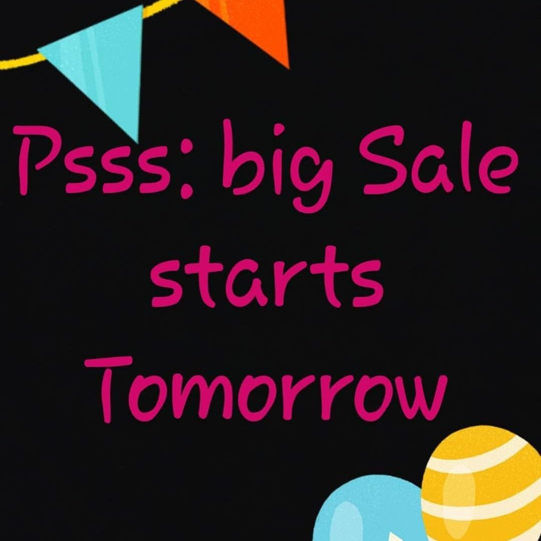 Pss Big Sale Start Tomorrow Check Out My Store Tomorrow To Find Out What S The Secret About How To Find Out Diy For Kids Nursery Toys