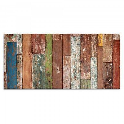 Design Magnetwand Memoboard 78cmx37cm quer mit Motiv Buntes Holz ...