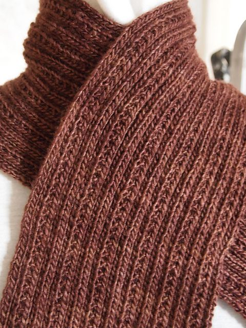 Simply Ribbed Is Just Thata Simple Ribbed Knit Scarf Unlike A