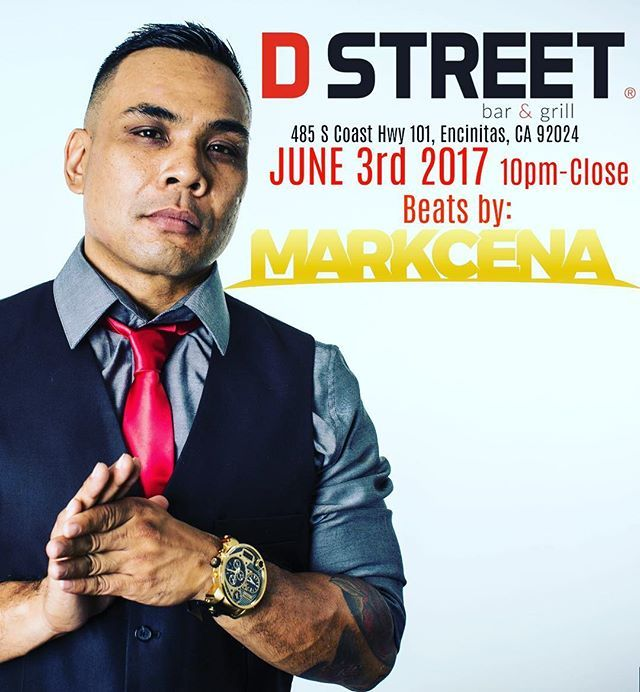 All my north county SD fam... Meet me at the D this Saturday in lovely #encinitas @dstreetbarandgrill  gonna be another one those night in the history books! #hiphop #edm #trap #sandiegoconnection #sdlocals #encinitaslocals - posted by Mark Azucena https://www.instagram.com/djmarkcena. See more post on Encinitas at http://encinitaslocals.com