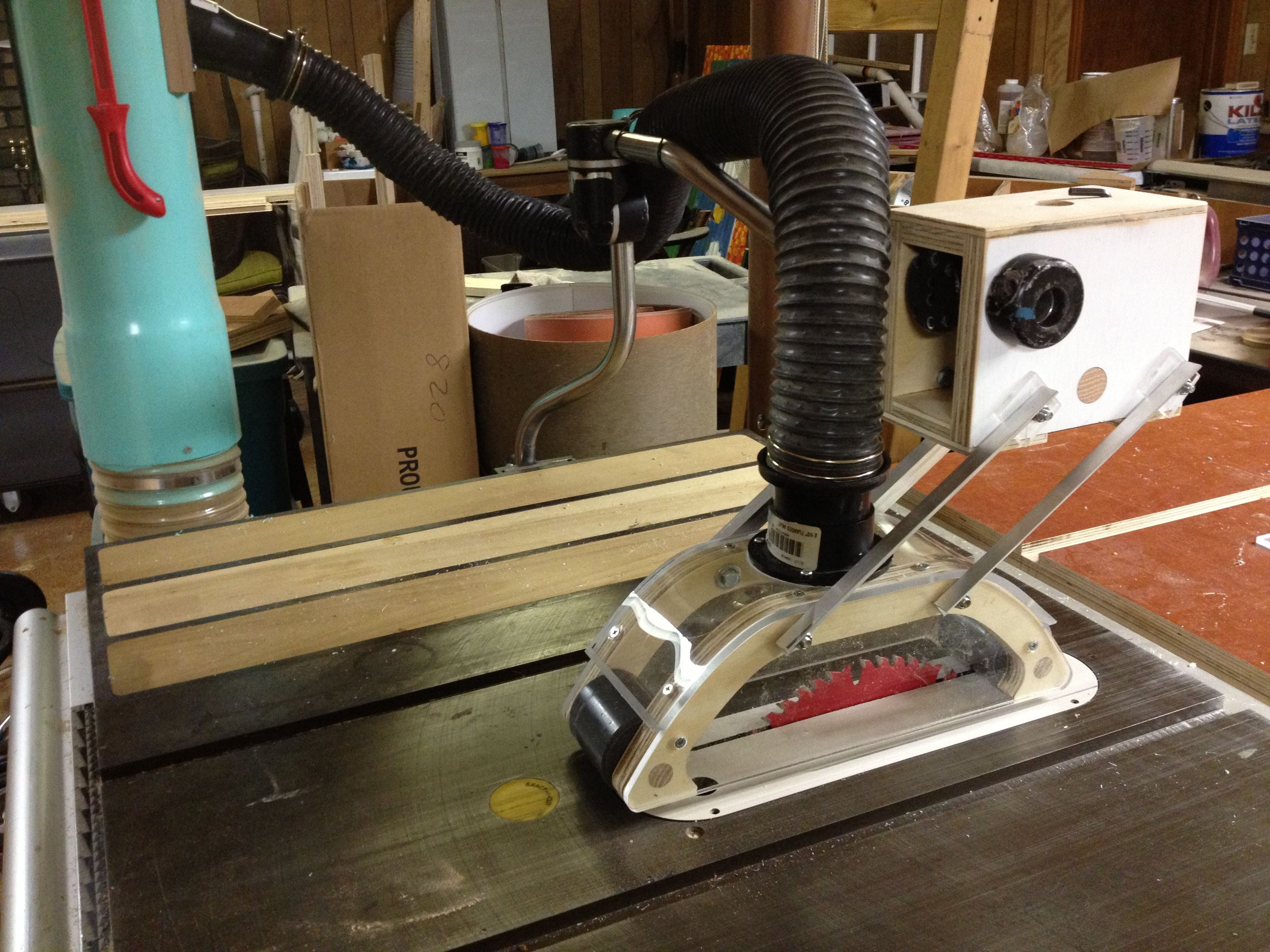 Tablesaw Dust Collection Table Top My Projects Pinterest Dust Collection Woodworking And