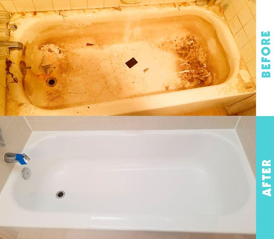 Reglazing A Bathtub With Images Refinish Bathtub