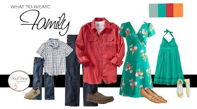 great source for ideas on what to wear for family portraits