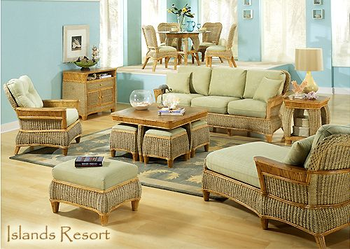 Wicker · Islands Resort 9095 Indoor Rattan Sunroom and Living Room Furniture  ... - Islands Resort 9095 Indoor Rattan Sunroom And Living Room