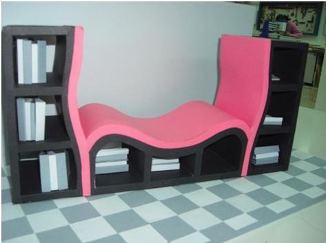 Librería sofá