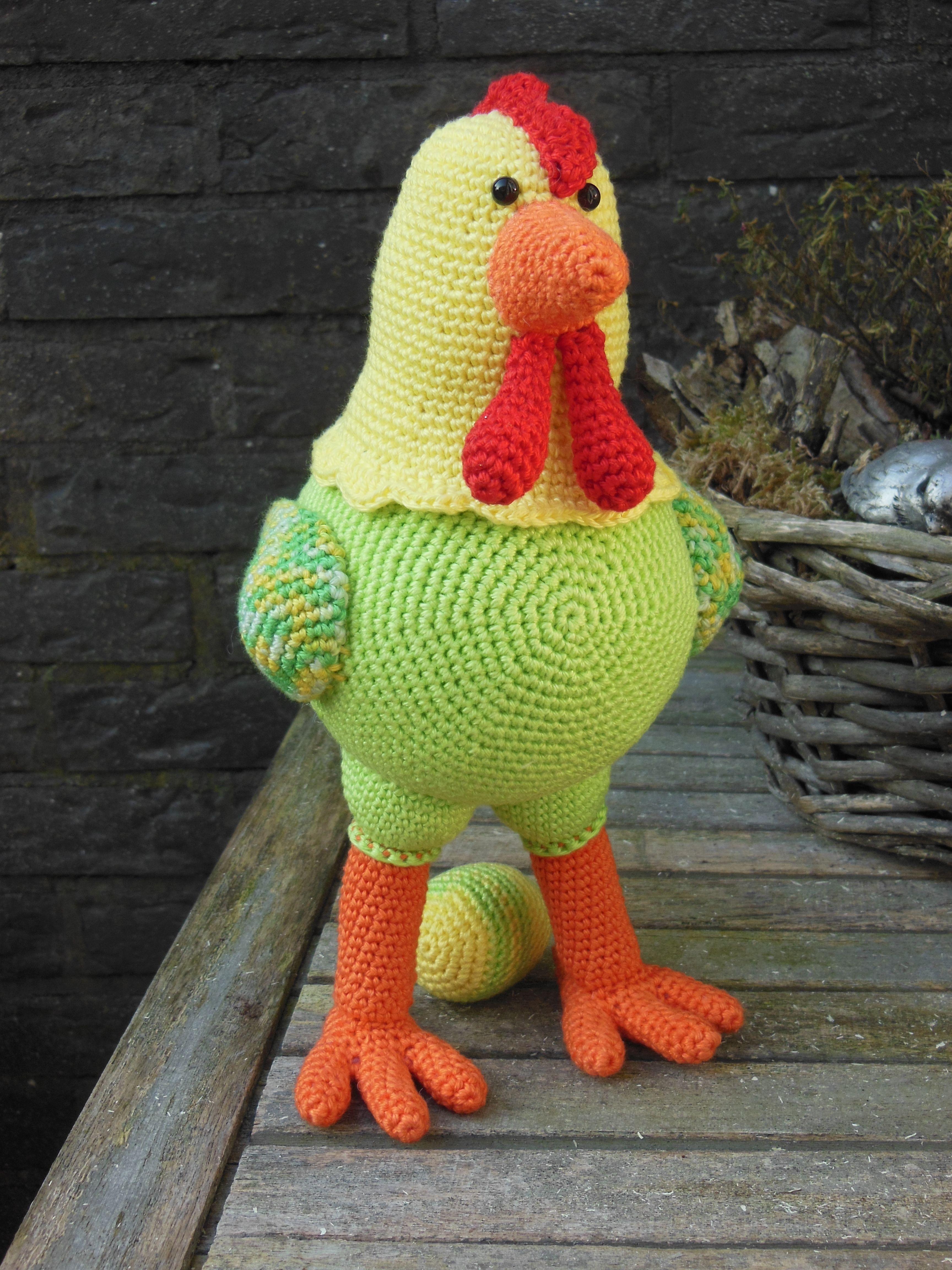 Gehaakte kip <3 patroon Stip en haak <3 pasen <3 crochet chicken <3 ...