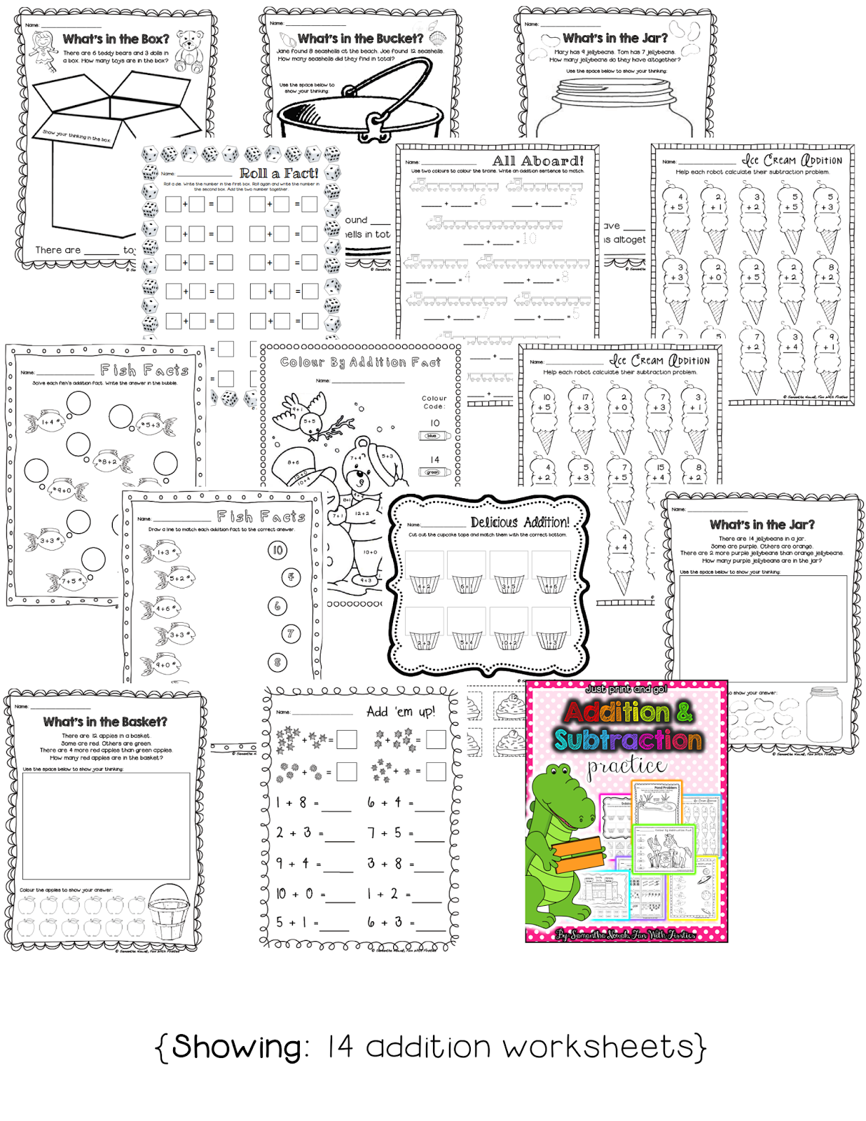 Free Addition Math Station Worksheet Amp Noise Level