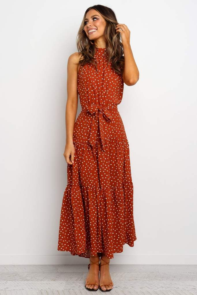 Adaline Dress - Rust 13