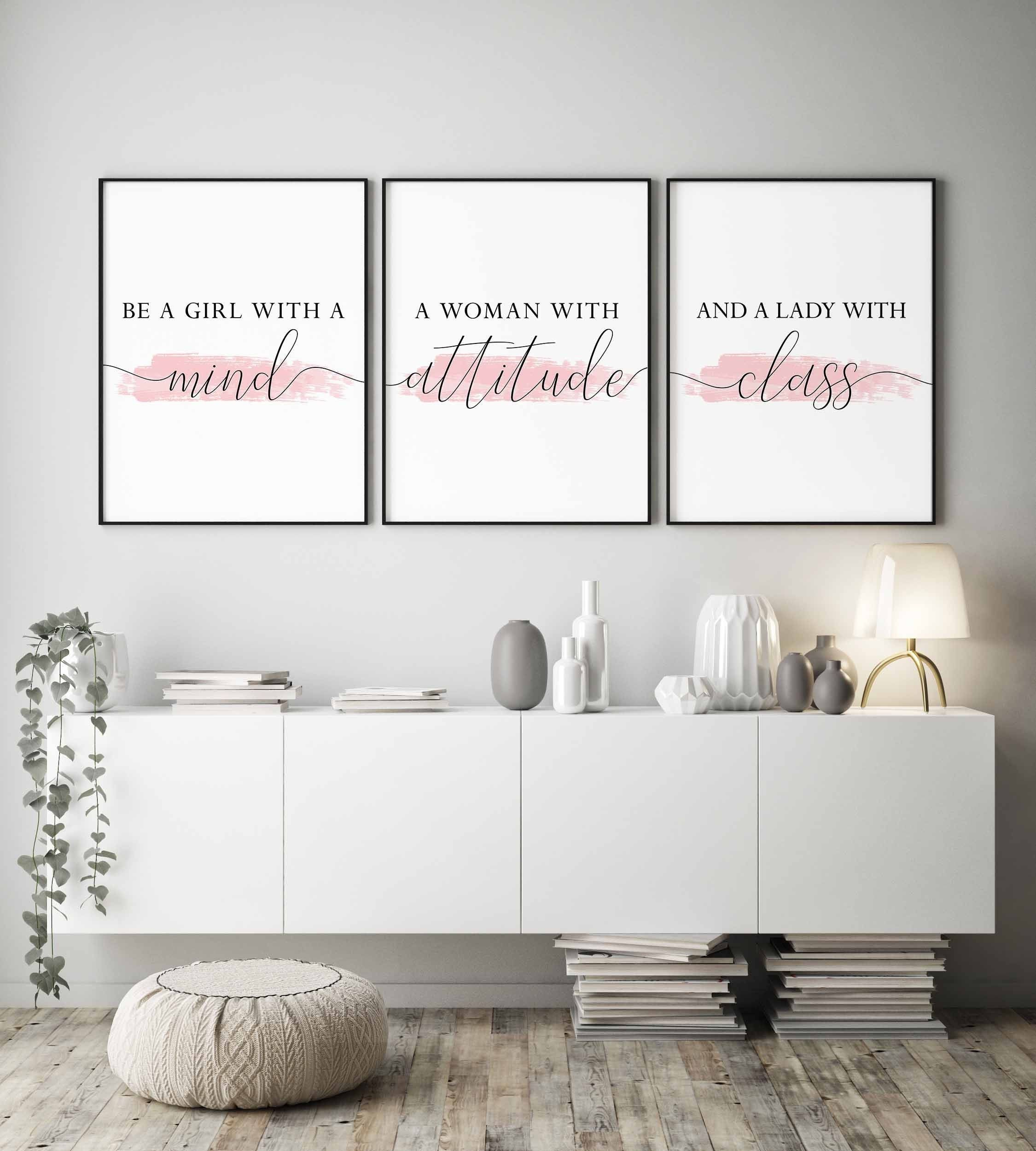 Prints For Bedroom Bedroom Wall Decor Girls Bedroom Wall Art Blush