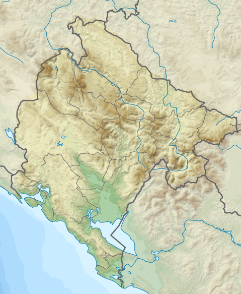 Relief Map of Montenegro Crna Gora Wikipedia slobodna