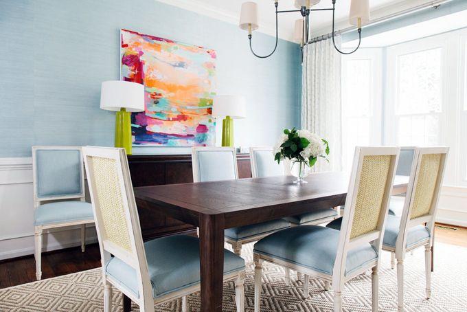Anna Matthews Interiors Dining Room Blue Dining Room Design